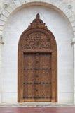Wejściowy drzwi górskiej chaty Cos d Estournel Fotografia Royalty Free