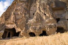 Wejściowy drzwi skalisty dom mieszka troglodyta w cappadocia Zdjęcie Royalty Free