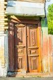 Wejściowy drzwi sowiecki stylowy budynek w Kijów Zdjęcie Stock