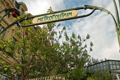 wejściowy metra Paris znak Fotografia Stock