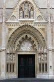 Wejściowy portal Zagreb katedra Obrazy Stock