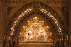 Wejściowy portal Zagreb katedra Obrazy Royalty Free