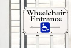 wejściowy wózek inwalidzki Zdjęcia Royalty Free