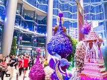 Wejście Paragon Bangkok storczykowy raj 2014 Zdjęcie Stock