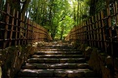 Wejściowy sposób japończyka ogród, Kyoto Zdjęcia Royalty Free
