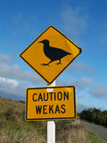 Weka caution sign Royalty Free Stock Images