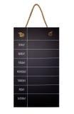 Wekelijkse Kalender op bord het plan van 7 dagen Royalty-vrije Stock Foto's