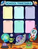 Wekelijkse thematics 8 van het schooltijdschema royalty-vrije illustratie