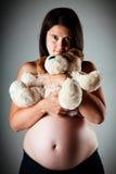 32 weken zwangere vrouwen Royalty-vrije Stock Afbeelding