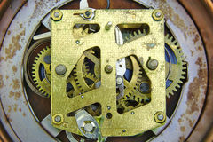 Wekker binnen mechanisme Stock Foto's