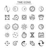Wekker en chronometerelementen stock afbeelding