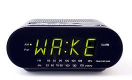 Wekkerradio met het woordKIELZOG Royalty-vrije Stock Foto's