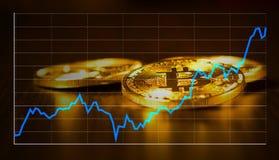 Wekslowego tempa ceduły Bitcoin ilustracja Fotografia Royalty Free