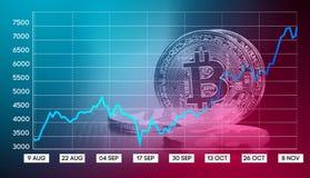 Wekslowego tempa ceduły Bitcoin ilustracja Fotografia Stock