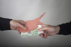 Pojęcia Cypr kryzys finansowy Zdjęcia Royalty Free