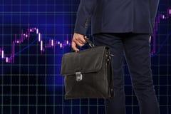 Wekslowy makler Biznesmen z teczką Obraz Stock