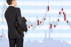Wekslowy makler Biznesmen z teczką Zdjęcia Stock