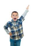 Wekte weinig jongen het schreeuwen op Royalty-vrije Stock Foto's