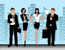 wektorów biznesowi ilustracyjni biurowi ludzie ilustracji