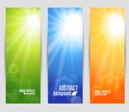Wektorów kolory ustawiają sztandary połysk Obraz Stock