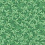 Wektorów liści powtórki zielona monotone ręka rysujący wzór Stosowny dla opakunku, tkaniny i tapety prezenta, ilustracja wektor