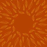 Wektorów liści rama w kolorze żółtym i pomarańcze Royalty Ilustracja