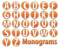 26 wektorów monogram Fotografia Royalty Free