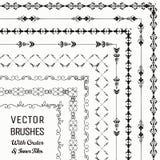 Wektorów muśnięcia z Zewnętrznymi i Wewnętrznymi płytkami Inkasowymi ilustracji