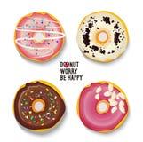 Wektorów odosobneni donuts inkasowi Zdjęcie Stock