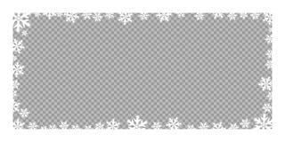Wektorów ramowi boże narodzenia i nowy rok płatek śniegu Wektorowy element na przejrzystym, odosobnionym tle, ilustracja wektor