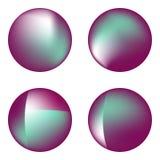 Wektorów ustaleni holograficzni okręgi Zdjęcie Stock