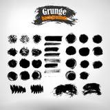Wektorów ustalony grunge malujący elementy płyty tła pokrywy grunge wektora banner okrąża crunch Grunge tekstura 2 wyznaczonym pr Obraz Stock
