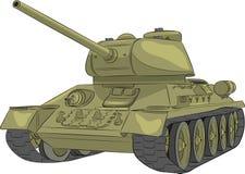 wektor Środkowy zbiornik T-34-85 royalty ilustracja