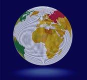 wektor 3 d całego świata Zdjęcia Stock