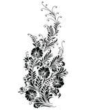 Wektor - Abstrakcjonistyczny czarny kwiecisty winograd Zdjęcia Stock
