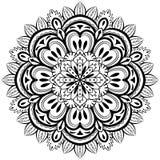 Wektor, abstrakcjonistyczny mandala na białym tle ilustracja wektor