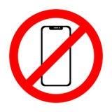 Wektor żadny telefonu komórkowego znak Smartphone ikona Zdjęcia Stock