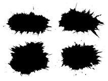 Wektor artystyczna czarna farba, atrament lub akrylowy ręcznie robiony, Fotografia Stock