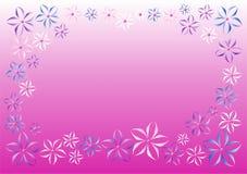 Wektorowych kwiatów różowy tło Obrazy Stock