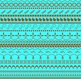 wektor bezszwowy kwiecisty wzoru Horyzontalny tło dla tkaniny, papieru lub innej dekoraci, Jesieni notatki Zdjęcia Stock