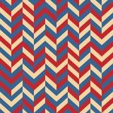 wektor bezszwowy wzoru Abstrakcjonistyczny Świąteczny projekta tła pojęcie w tradycyjnym amerykaninie barwi - czerwień, biel, błę Zdjęcia Stock