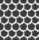 wektor bezszwowy wzoru Abstrakcjonistyczny tło z round szczotkarskimi uderzeniami ilustracji