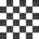 wektor bezszwowy wzoru Chequered tło, projekta element z czarnymi białymi kwadratami Tło, tekstura z okulistycznym Obrazy Royalty Free