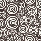 wektor bezszwowy wzoru Czarny i biały abstrakcjonistyczny tło Obraz Stock