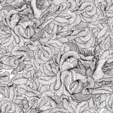 wektor bezszwowy wzoru Dekoracyjna abstrakcjonistyczna ręka rysujący doodle o ilustracja wektor