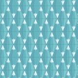 wektor bezszwowy wzoru Geometryczne błękitne góry Wektorowa ilustracja, mieszkanie styl royalty ilustracja