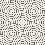 wektor bezszwowy wzoru Nowożytna elegancka abstrakcjonistyczna tekstura Wielostrzałowe geometryczne płytki Obraz Royalty Free