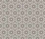 wektor bezszwowy wzoru Nowożytna elegancka abstrakcjonistyczna tekstura Wielostrzałowi geometryczni kształty od pasiastych elemen zdjęcie stock