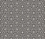 wektor bezszwowy wzoru Nowożytna elegancka abstrakcjonistyczna tekstura Wielostrzałowy geometryczny taflować od pasiastych elemen ilustracja wektor