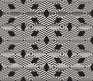 wektor bezszwowy wzoru nowożytna elegancka tekstura Wielostrzałowy geometryczny taflować od pasiastych trójboków elementów fotografia royalty free